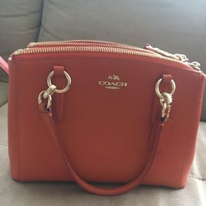Coach orange cross body